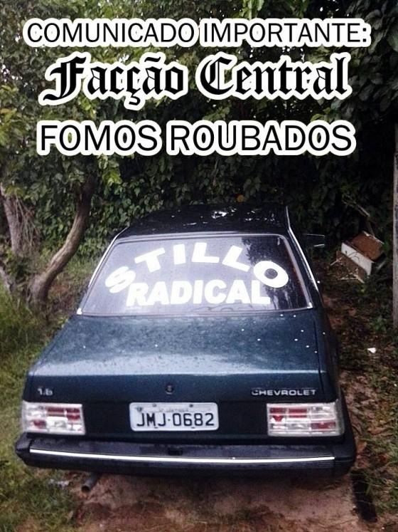 Carro do Facção Central é roubado em show de RAP