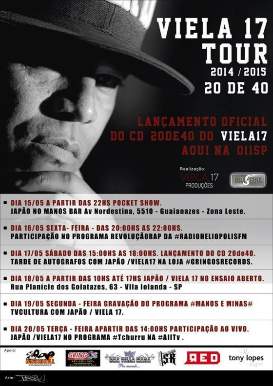 Sabadão tem tarde de autógrafos com Viela 17 na Gringos Records