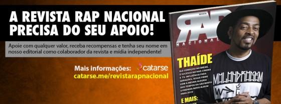 Revista Rap Nacional precisa do seu apoio