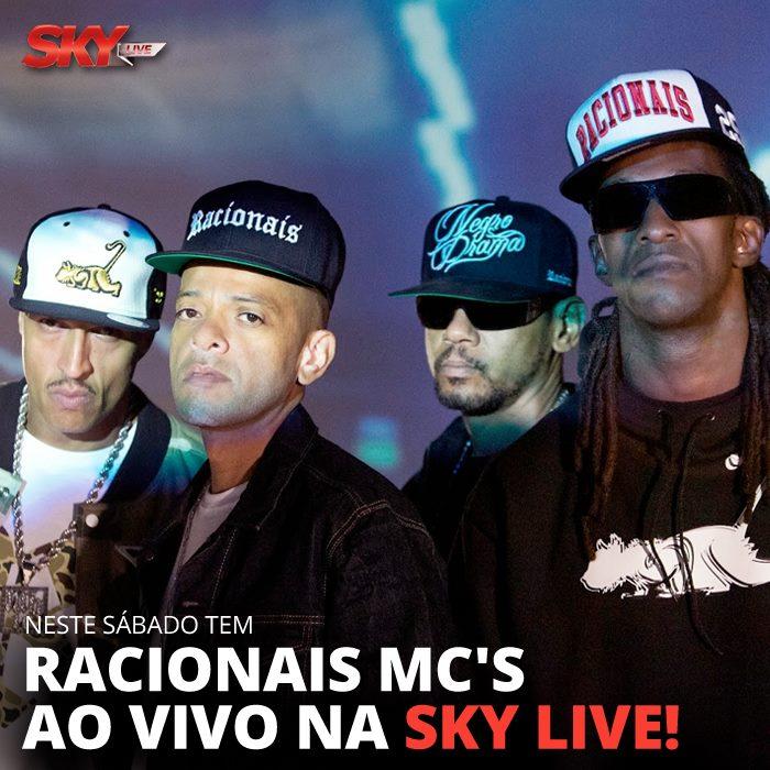 Sky transmitirá show ao vivo do Racionais Mc's no próximo sábado (6)