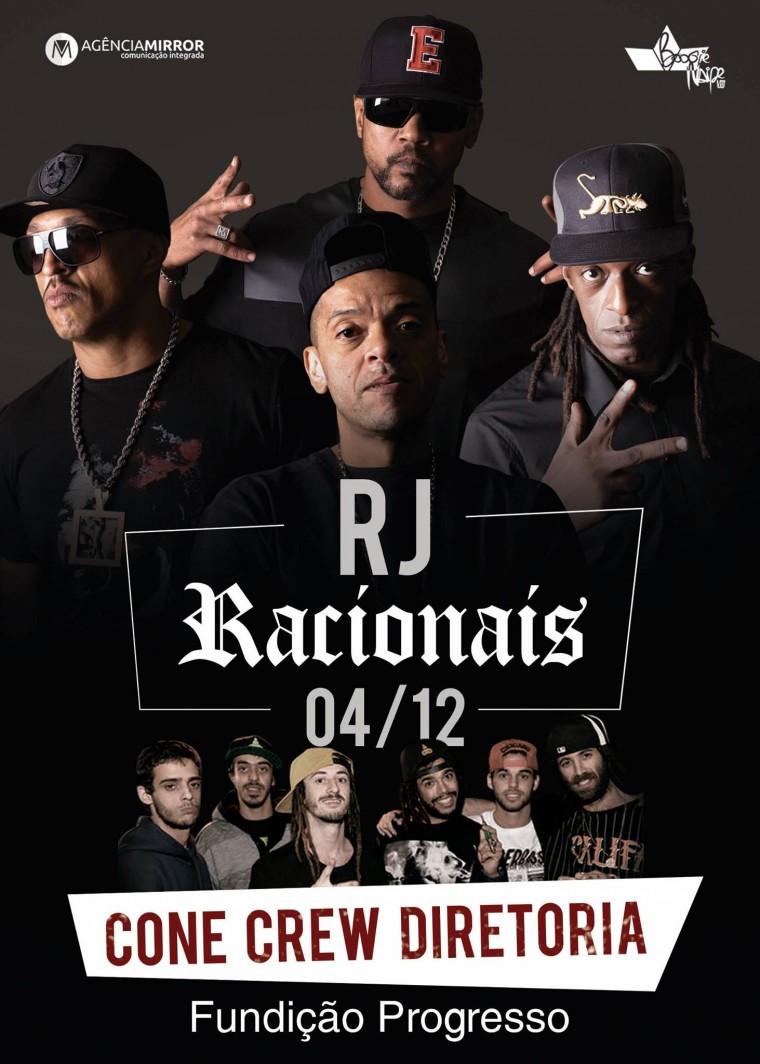"""Racionais encerra turnê """"Cores & Valores"""" com show na Fundição Progresso"""