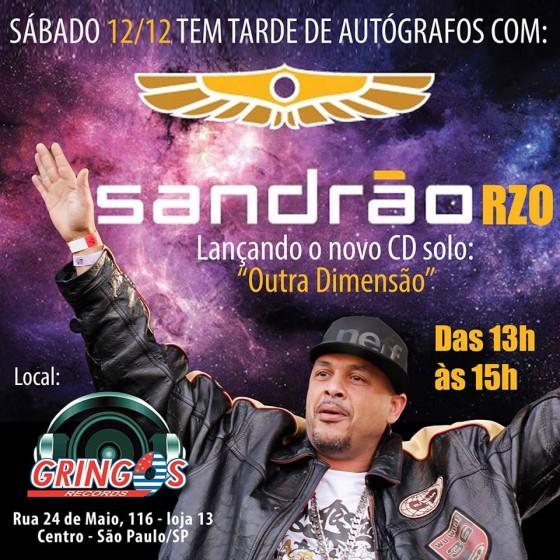 Sandrão do RZO faz tarde de autógrafos na Gringos Record's, em São Paulo