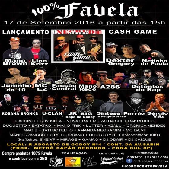 Final de semana tem Festa 100% Favela no Capão Redondo