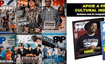 Confira a nossa campanha no Kickante. Salve a Revista Rap Nacional!