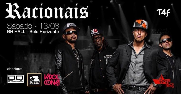 Racionais faz show no BH HALL no próximo sábado (13), em Belo Horizonte