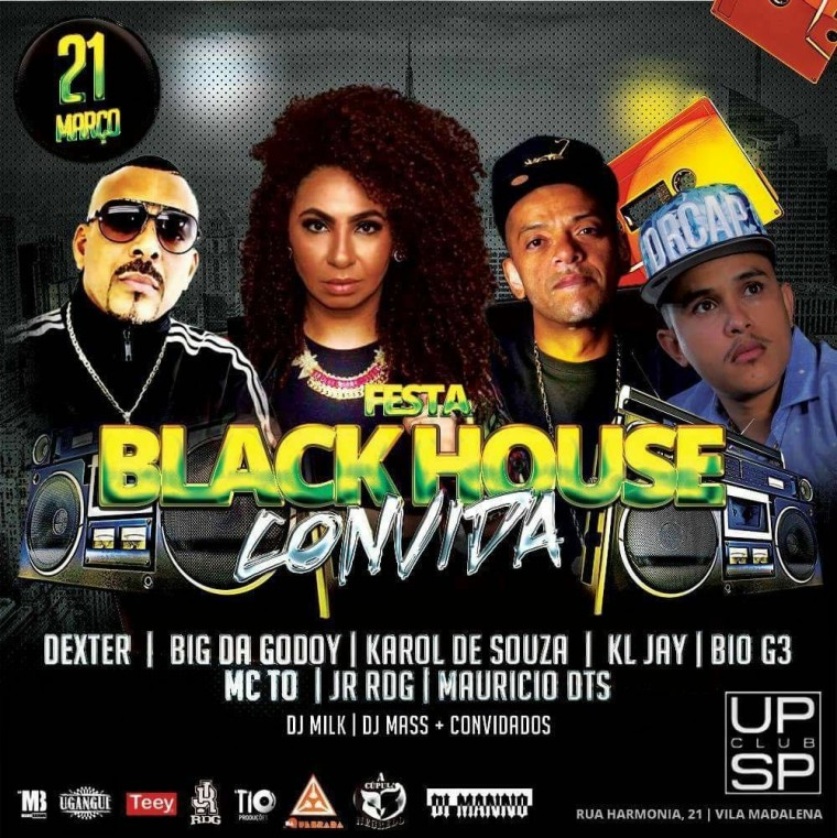 Festa Black House terá vários convidados de peso do Rap Nacional