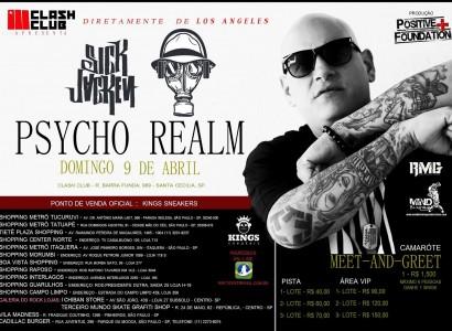 Sick Jacken do Psycho Realm faz show em São Paulo no próximo domingo (9)