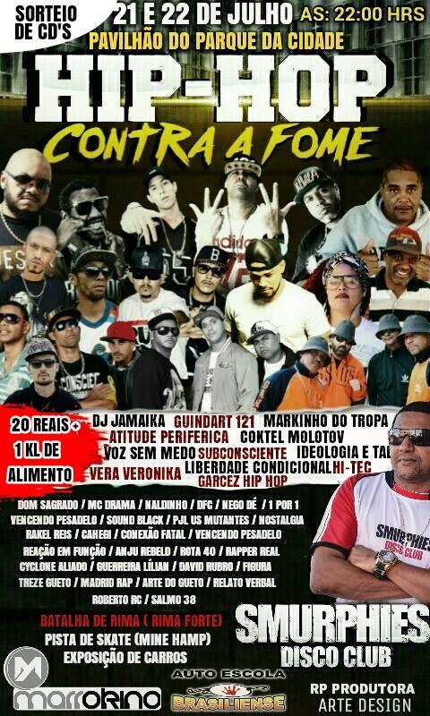 Vem aí mais uma edição do Hip-Hop Contra a Fome no DF