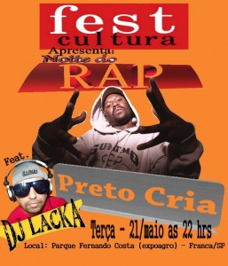 1º FEST CULTURA - Preto Cria