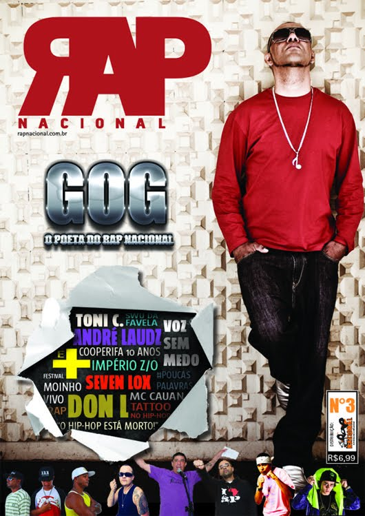 GOG foi capa da Revista RAP NACIONAL N°3