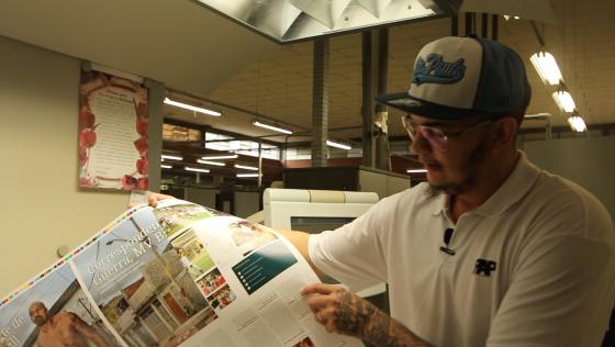 Veja como é impressa a Revista RAP NACIONAL