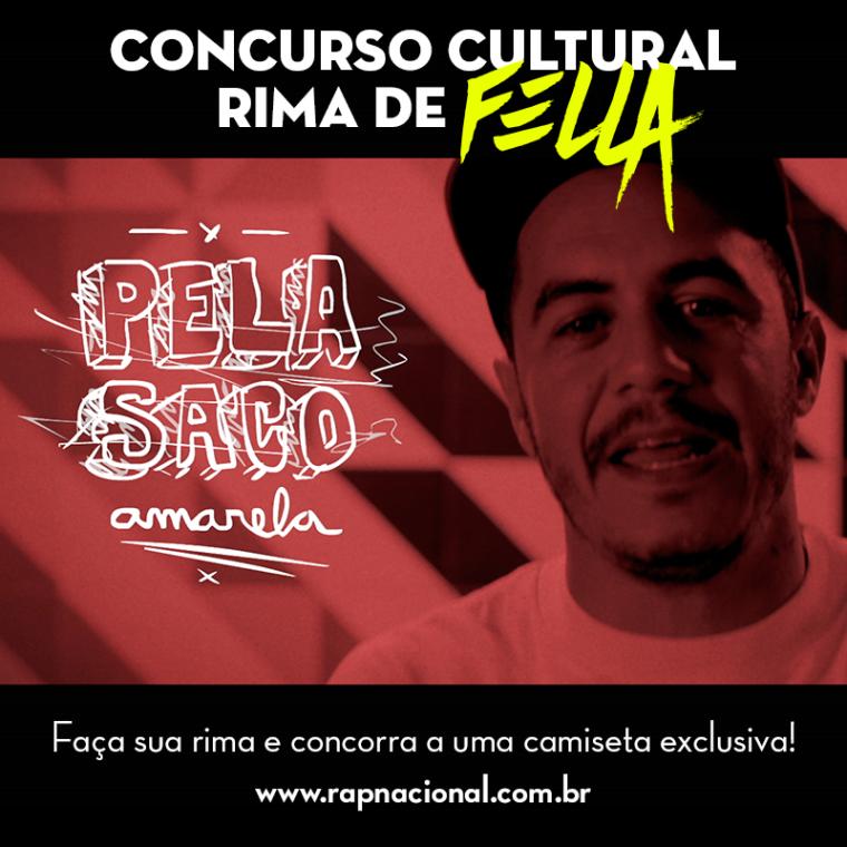 """Aos ganhadores da promoção """"FELLA"""" promovida pela equipe Marcelo D2 em parceria com o Portal RAP NACIONAL."""