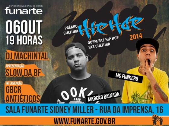 Funarte promove encontro e shows para divulgar Prêmio Cultura Hip-Hop no Rio de Janeiro