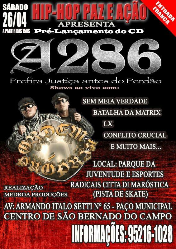 A286 lança álbum em grande festa no ABC paulista