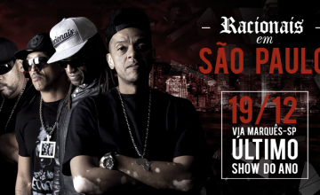 Racionais MC's faz último show do ano na capital paulista