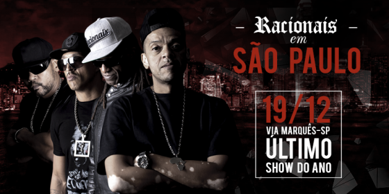 Racionais MC's faz último show do ano na capital paulista