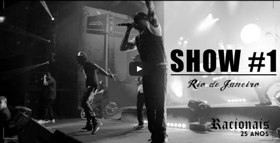 Confira o primeiro vídeo da turnê dos 25 anos do Racionais MC's