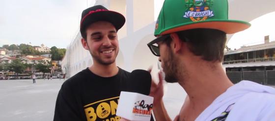 Papatinho é repórter por um dia na TV Rap Nacional