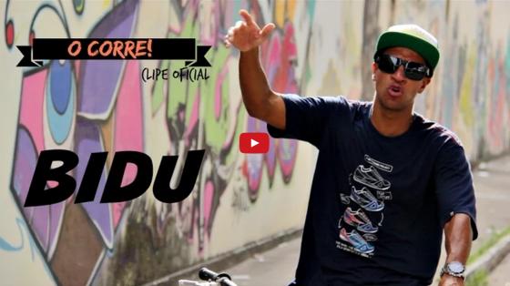 """Rapper Bidu lança videoclipe da faixa """"O Corre!"""""""