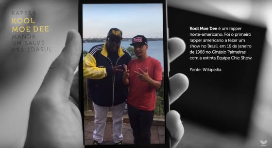 Rapper norte americano Kool Moe Dee manda um salve pra 1DASUL