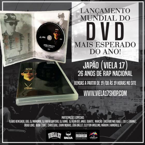 Viela 17 lança DVD comemorando 26 anos de carreira