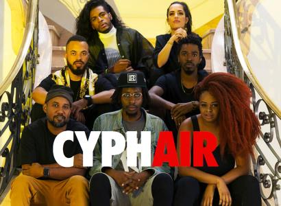 """Assista """"CyphAir"""" com Rincon Sapiência, Nego E, Lívia Cruz, Tássia Reis, Rico Dalasam, Aori e Amiri"""