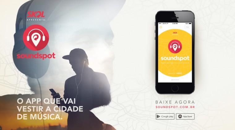Coloque música nos seus lugares favoritos com o Soundspot, novo app da Skol