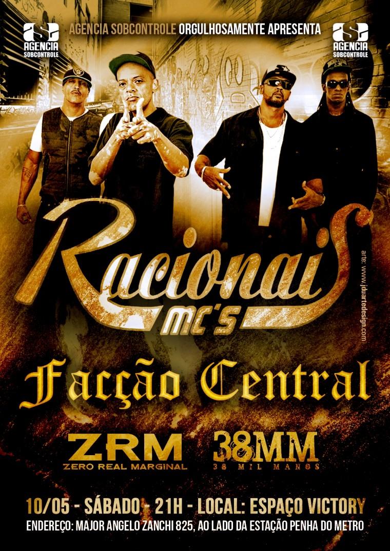 Racionais MC's se apresenta no Espaço Victory em maio