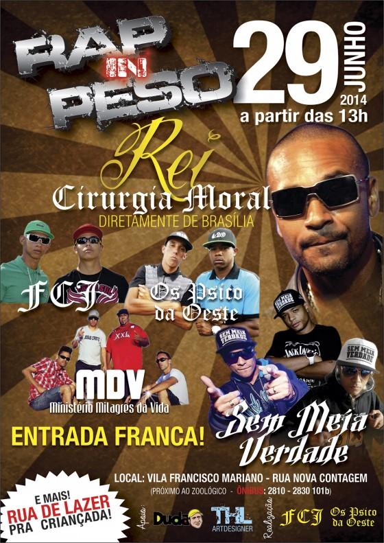 Domingo (29): Rei (Cirurgia Moral), Sem Meia Verdade e outros fazem show em Belo Horizonte