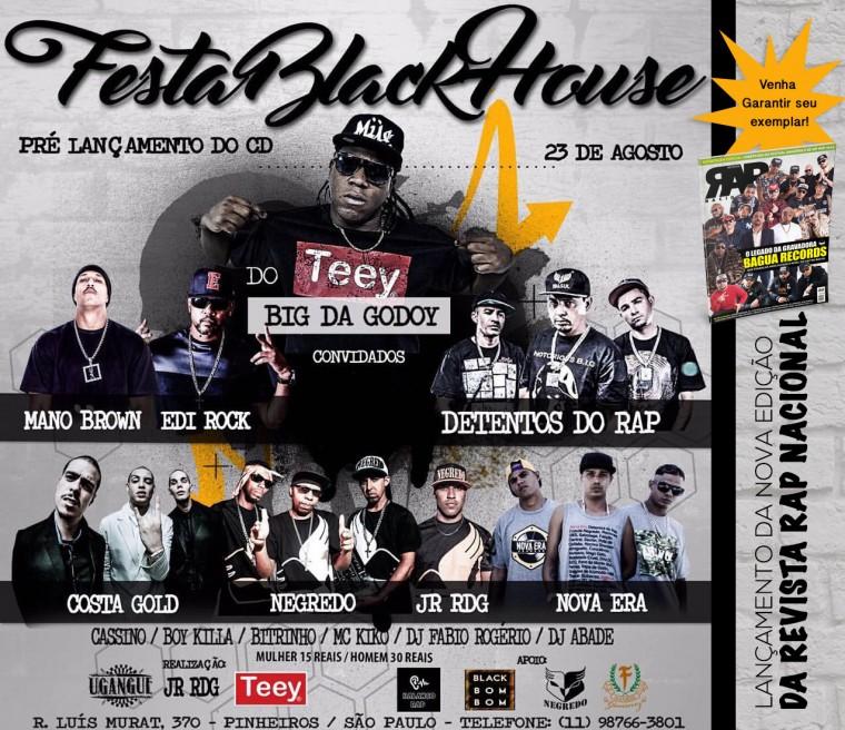 Festa em SP marca pré-lançamento do CD do Big da Godoy e da nova Revista Rap Nacional