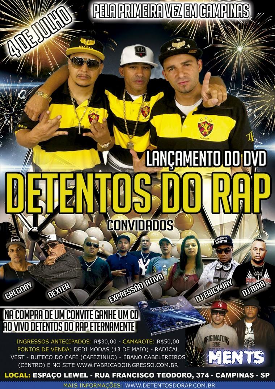 Detentos do Rap lança DVD em Campinas nesta sexta-feira (4)