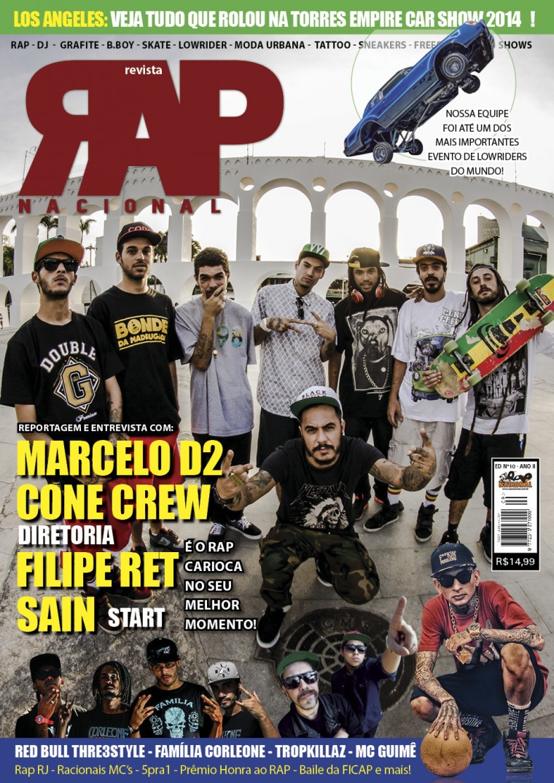 Confira a capa da Revista Rap Nacional n°10 e compre a sua na pré-venda!