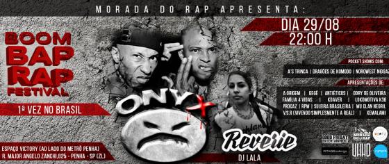 Onyx e a Mc Reverie fazem show pela primeira vez no Brasil dia 29/8