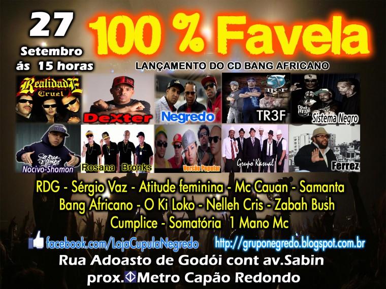 Sábado (27) tem 100% Favela no Capão Redondo. Confira a programação!