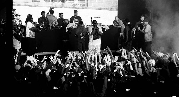 Show do grupo americano Bone Thugs N' Harmony em SP 9/8