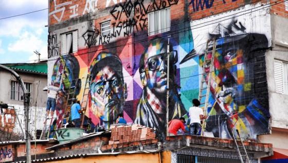 Grafiteiro Kobra fala sobre mural do Racionais MC's no Capão Redondo