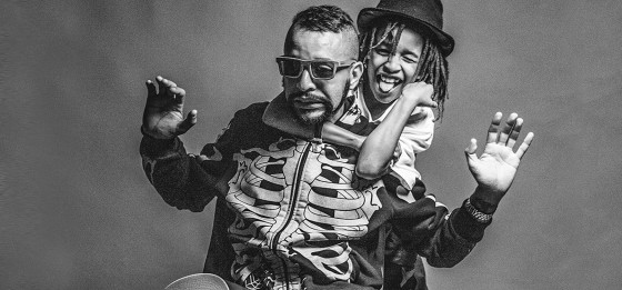 MC Max B.O. leva o filho Zion para o estúdio