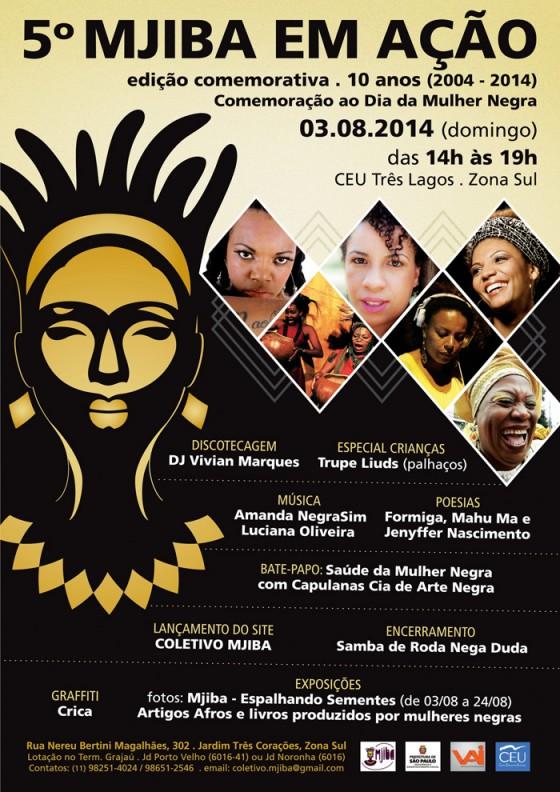 Coletivo Mjiba reúne música, artes plásticas e debate para o Dia da Mulher Negra