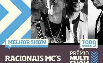 """Racionais Mc's vence na categoria """"Melhor Show"""" do Prêmio Multishow 2014"""