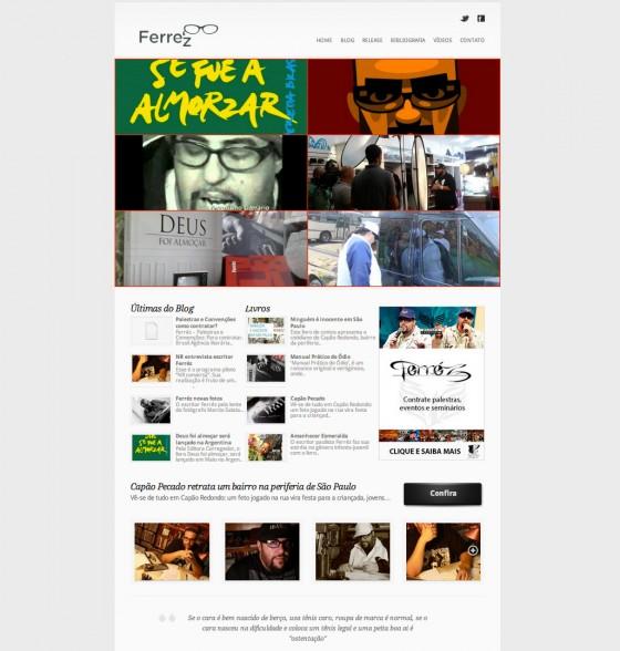 Entra no ar o novo site do escritor Ferréz