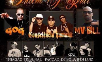 Ordem Própria, Mv Bill, GOG e CH fazem show com entrada franca em São Bernardo do Campo
