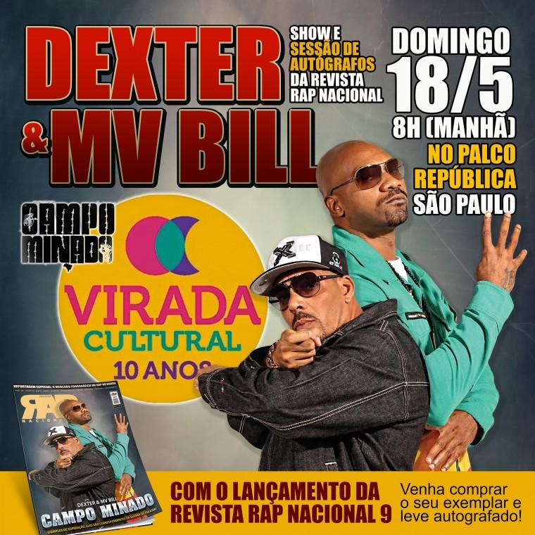 Revista RAP NACIONAL é lançada com sessão de autógrafos de Dexter e Mv Bill na Virada Cultural 2014