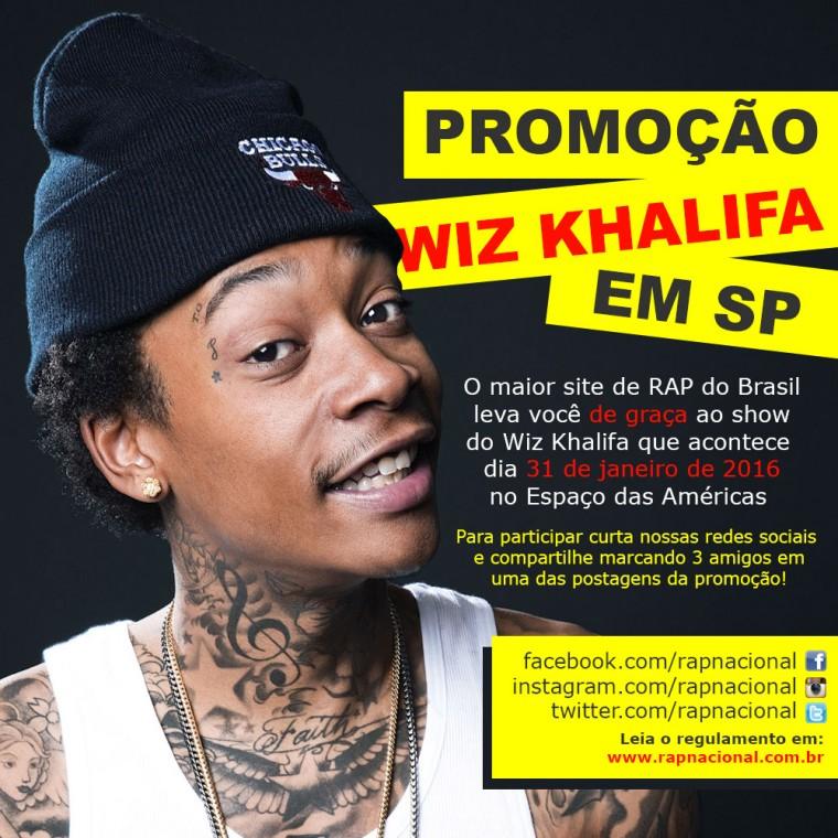 PROMOÇÃO: Concorra a ingressos para o show do Wiz Khalifa em São Paulo